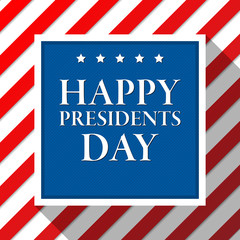 Presidents day vector background. Colors of american flag. USA patriotic template. Illustration with text, stripes and stars for posters, flyers. Decoration for national celebration.