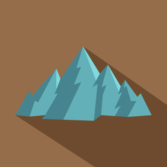 Mountain icon. Flat illustration of mountain vector icon for web