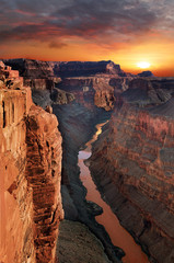 Grand canyon, Arizona. The Grand Canyon is a steep-sided canyon carved by the Colorado River in the state of Arizona.