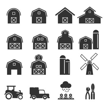 barn icon vector illustration