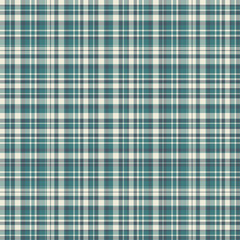 Checkered fabric tartan textile. Vector seamless pattern.