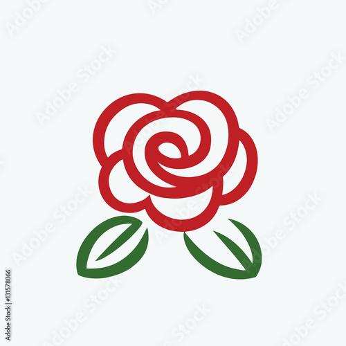 """""""Rose logo vector"""" Stockfotos und lizenzfreie Vektoren auf ..."""