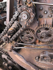 Chains Sprockets and Gears of Coal Shovel