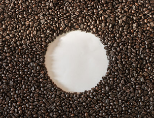 roasted coffee beans is background