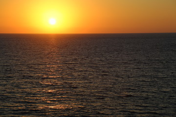 Scenic view of beautiful sunset above the Mediterranean sea