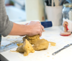 Preparing pastry dough
