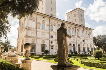 View at Galleria Borghese in Villa Borghese, Rome, Italy
