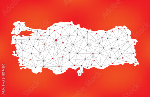 turkey network map polygonal turkey map geometric turkey map