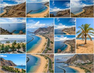 Postcard Las Teresitas beach, Tenerife, Spain