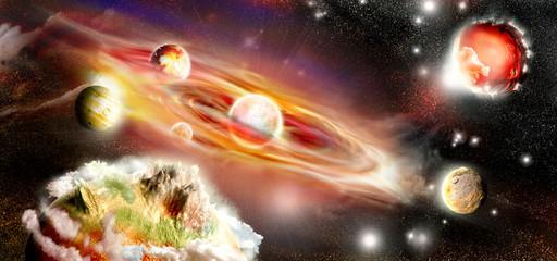 Burning Solar System