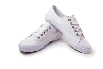 Casual sneakers on white background