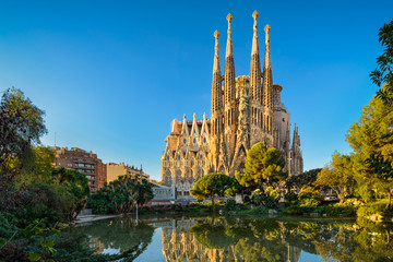 Photo sur Aluminium Barcelone Sagrada Familia in Barcelona, Spain