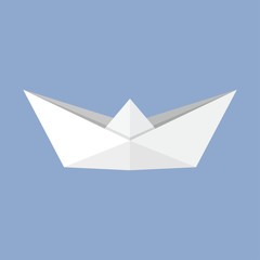 Origami boat paper