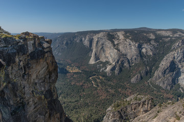 View of Yosemite Valley from Taft Point, Yosemite National Park