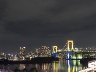 東京湾の夜景(お台場からの風景)