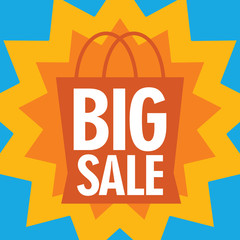 Big sale with shopping bag