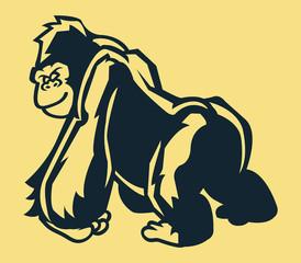 Stand Gorilla Line Art