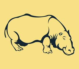 Hippopotamus Line Art