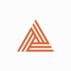 Line triangle logo design