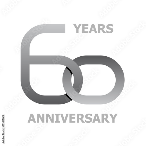 Quot60 years anniversary symbol vectorquot stock image and for 60 wedding anniversary symbol