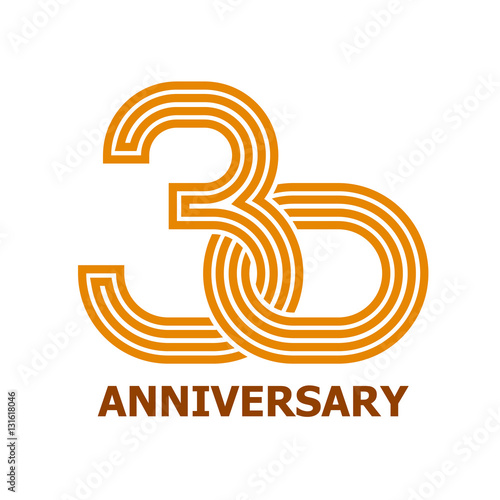 30 years anniversary symbol vector stock image and royalty free