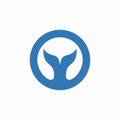 fish tail logo design