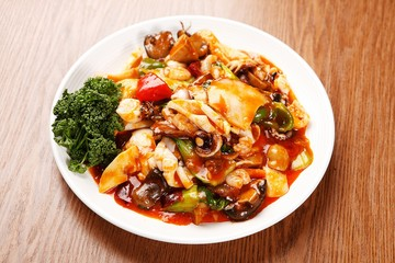 palbochae,  Stir-fried Seafood and Vegetables, 팔보채