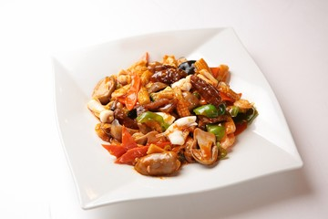 palbochae,  Stir-fried Seafood and Vegetables, 팔보채