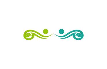 green human leaf logo