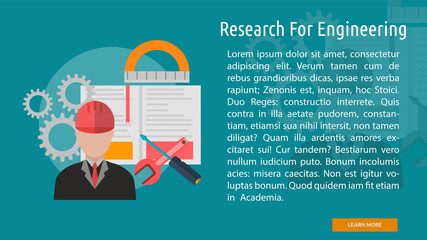 Research For Engineering Conceptual Banner