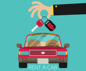 Rent a car design, vector illustration