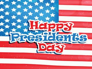U.S.A Presidents Day background