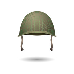 Military classical helmet design with projection lines. Development of uniform