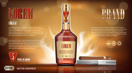 Cognac bottle Mock up
