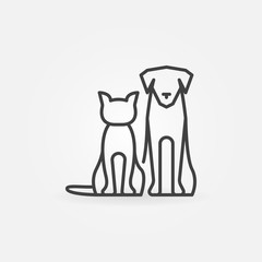 Cat with dog icon