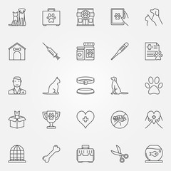 Veterinary line icons