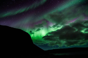 Northen lights (Aurora Borealis) in Iceland