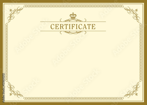 Retro Frame Certificate Template Vector Stock Image And Royalty