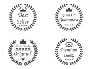 Set of 4 Premium quality Logo