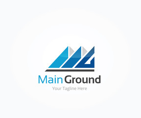 Main Ground Letter M Logo Template