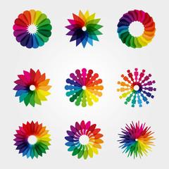 Colored logo set