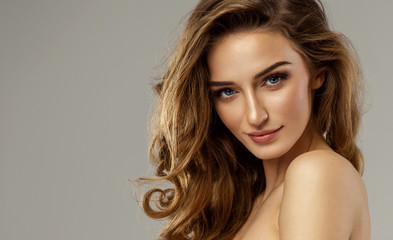 Beautiful female face with natural perfect skin