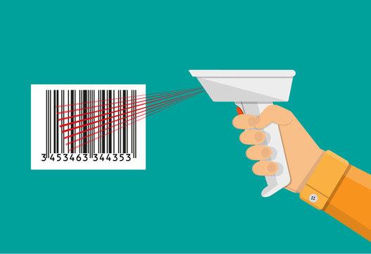 Barcode scanner flat design