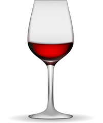 illustration of a wineglass