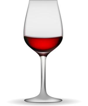 illustration of a wineglass