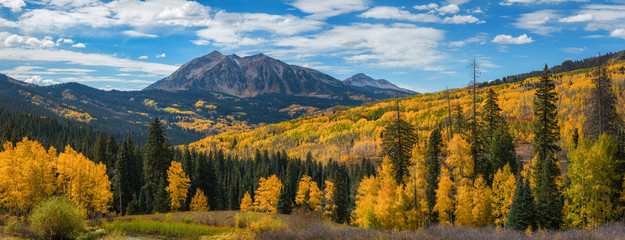Kebler Pass Panorama in autumn