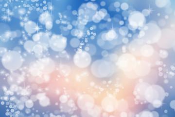 Magic Christmas background. Bokeh or glitter lights on dark back