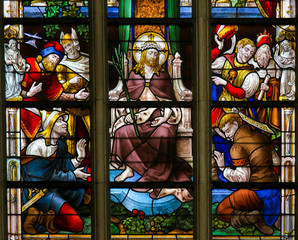 Fototapete - Stained Glass - Ecce Homo