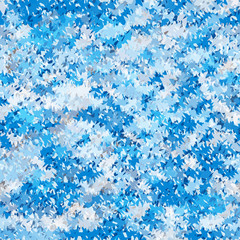 Seamless jagged abstract pattern. Cold blue geometric background. Web design texture. Vector