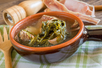 Neapolitan soup with vegetables and meat